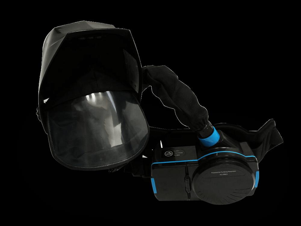 Syrius Titan OXY frisslevegős automata hegesztőpajzs true color színhű filterrel