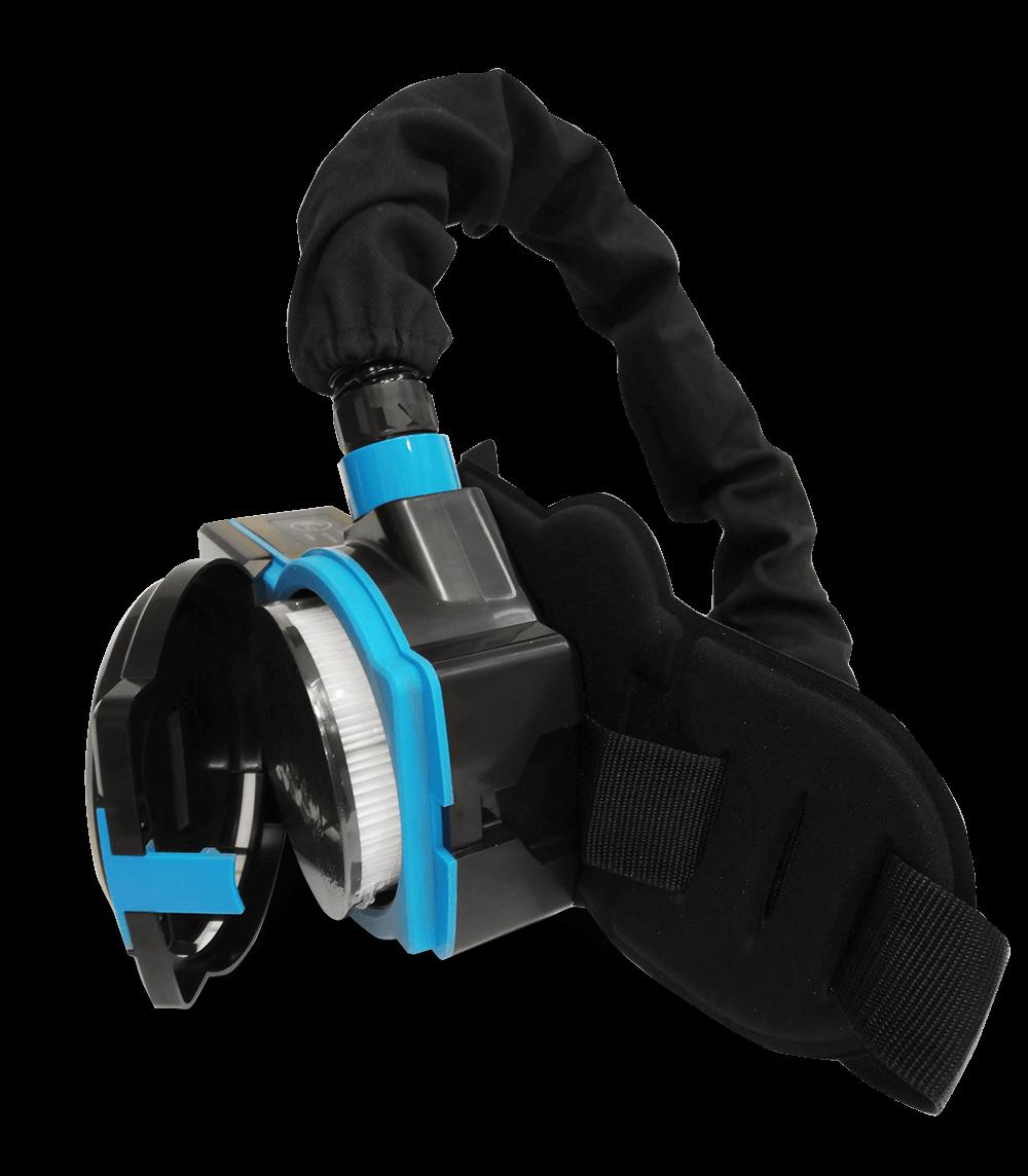 Syrius Titan OXY frisslevegős automata hegesztőpajzs true color színhű filterrel szűrő
